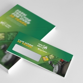 Green Agriculture DL Envelope Commercial With Hexagon
