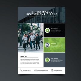 Green and white Business Flyer
