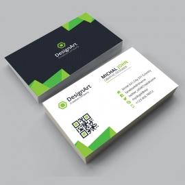 Green Black Business Card Design