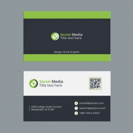 Green Black Business Card Design