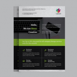 Green Black Business Flyer Design