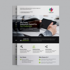 Green Black Corporate Business Flyer