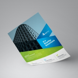 Green & Blue Business Flyer