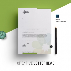 Green Blue Creative Letterhead Design