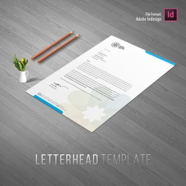 Green Blue Creative Letterhead Design