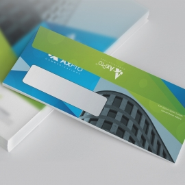 Green & Blue DL Envelope Commercial With Abstract
