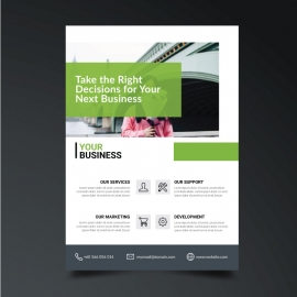 Green Boxs Corporate Flyer Template