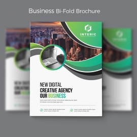 Green Business Bi-Fold Brochure