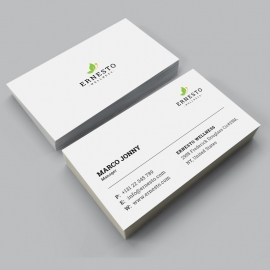 Green Business Card With White Concept