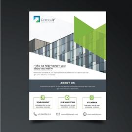 Green Business Creative Flyer Template