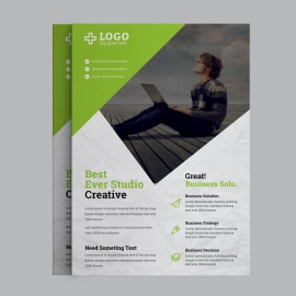 Green Business Flyer Design