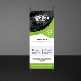 Green Business Rollup Banners