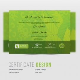 Green Company Certificate Design