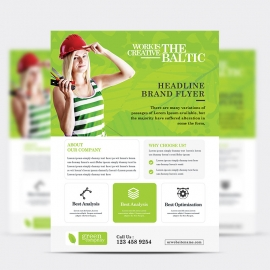 Green Company Flyer Design