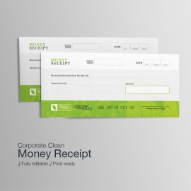 Green Company Money Receipt