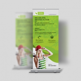 Green Company Rollup Banner