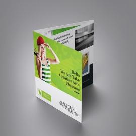 Green Company Squre Trifold Brochure