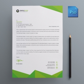 Green Corporate Business Letterhead