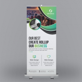 Green Corporate Roll-Up Banner