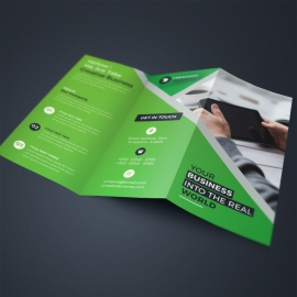 Green Corporate TriFold Brochure
