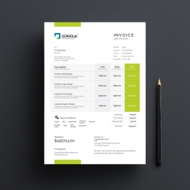 Green Energy Clean Invoice