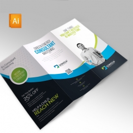 Green Energy Clean Trifold Brochure