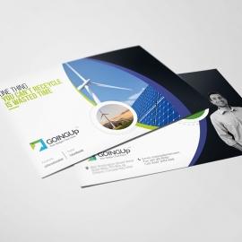 Green Energy Corporate Postcard