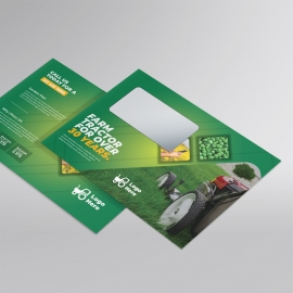 Green Farm Agriculture B5 Envelope With Hexagon