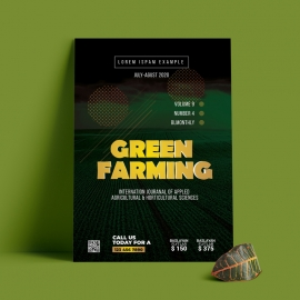Green Garden Farm Agriculture Flyer