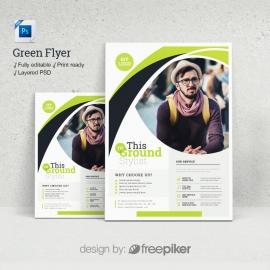 Green Psd Flyer