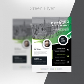 Green Style Flyer Template