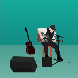 Guitarist Vector Design