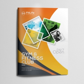 Gym & Fitness Bifold Brochure