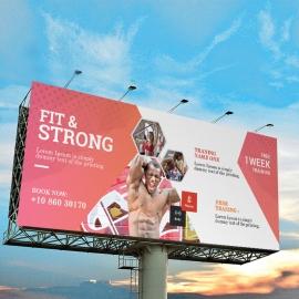 Gym & Fitness Billboard Sinage