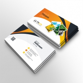 Gym & Fitness Business Card