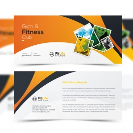 Gym & Fitness Compliment Card