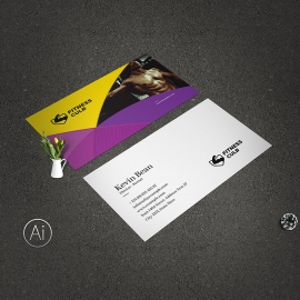 GYM Fitness Creative Business Card