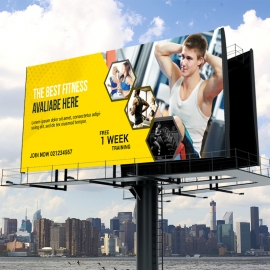 Gym & Fitness Flyer Billboard Sinage