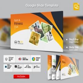 Gym & Fitness Google Slide Presentation Template