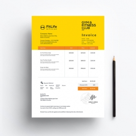 Gym & Fitness Invoice