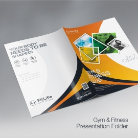 Gym Fitness Presentation Folder