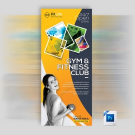 Gym & Fitness  Rollup Banner