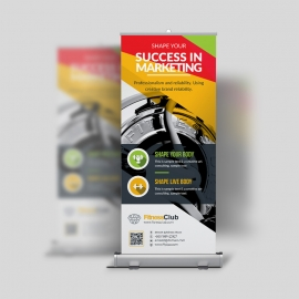 GYM Fitness Rollup Banner Designs