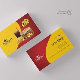 Hamburger Fast Food BusinessCard