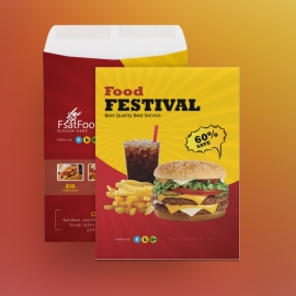 Hamburger Fast Food Catalog Envelope