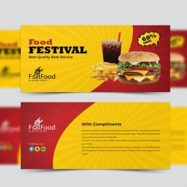 Hamburger Fast Food Compliment Card Template
