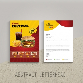 Hamburger Fast Food Letterhed Template