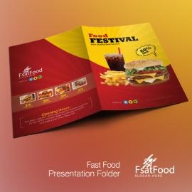 Hamburger Fast Food Presentation Folder