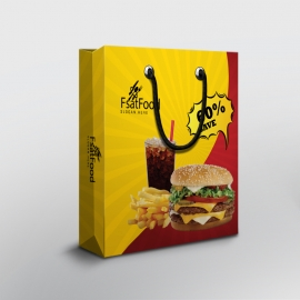 Hamburger Fast Food Shopping Bag
