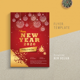 Happy New Year 2020 Flyer